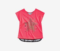 Ideology Kids Girls Graphic-Print T-Shirt, Flamingo Pink