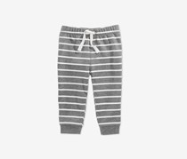 First Impressions Baby Boys Striped Jogger Pants, Heather Gray/White