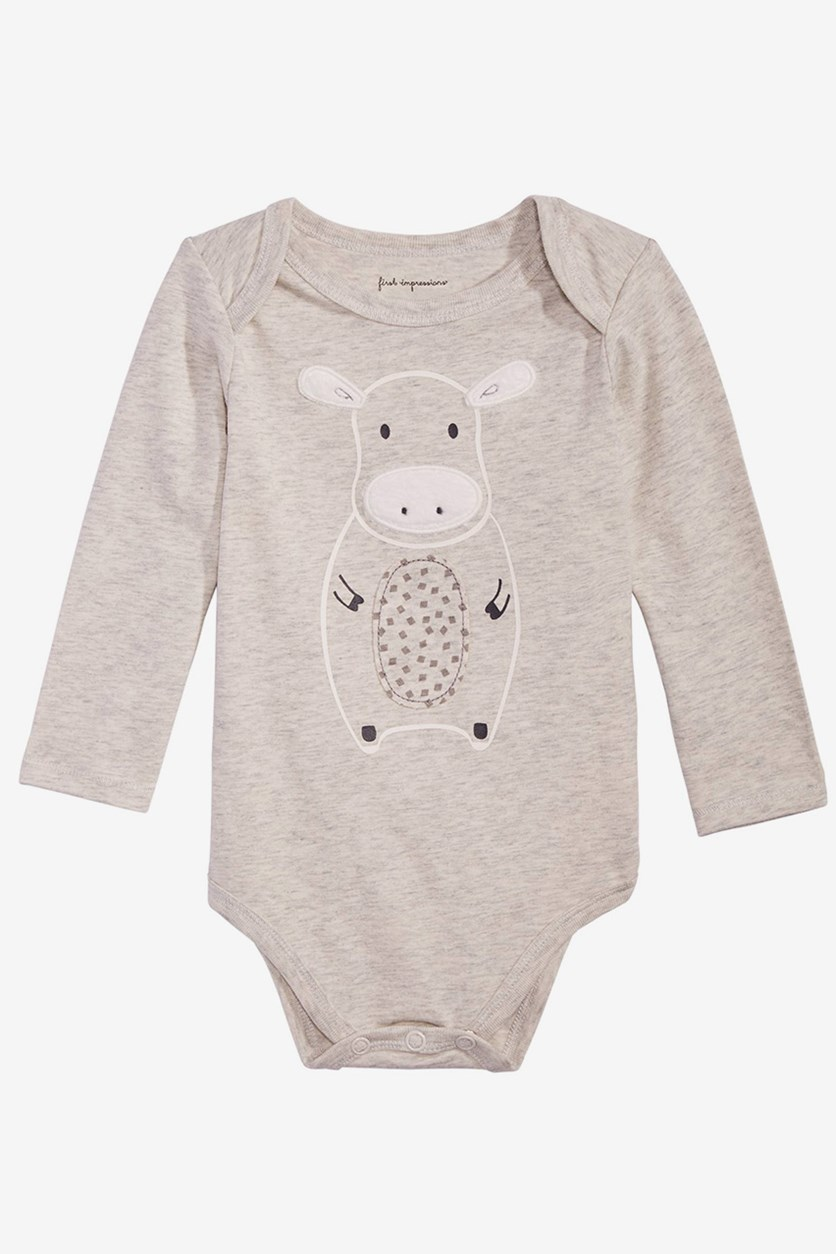 Baby Boys Graphic Bodysuit, Scatter Grey