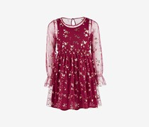 Epic Threads Big Girls Butterfly-Print Mesh Dress, Maroon