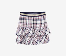 Epic Threads Girl's Plaid Skirt, Holiday Ivory Combo