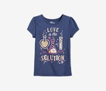 Epic Threads Little Girls Graphic-Print T-Shirt, Medieval Blue