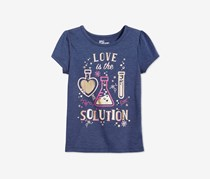 Toddler Girls Graphic-Print T-Shirt, Medieval Blue