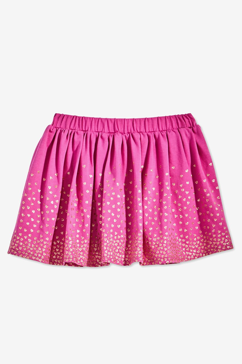 Toddler Girls Heart-Print Scooter Skort, Purple