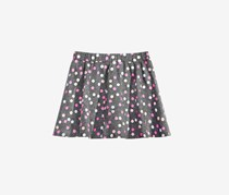 Toddler Girls Printed Scooter Skirt, Charcoal Combo