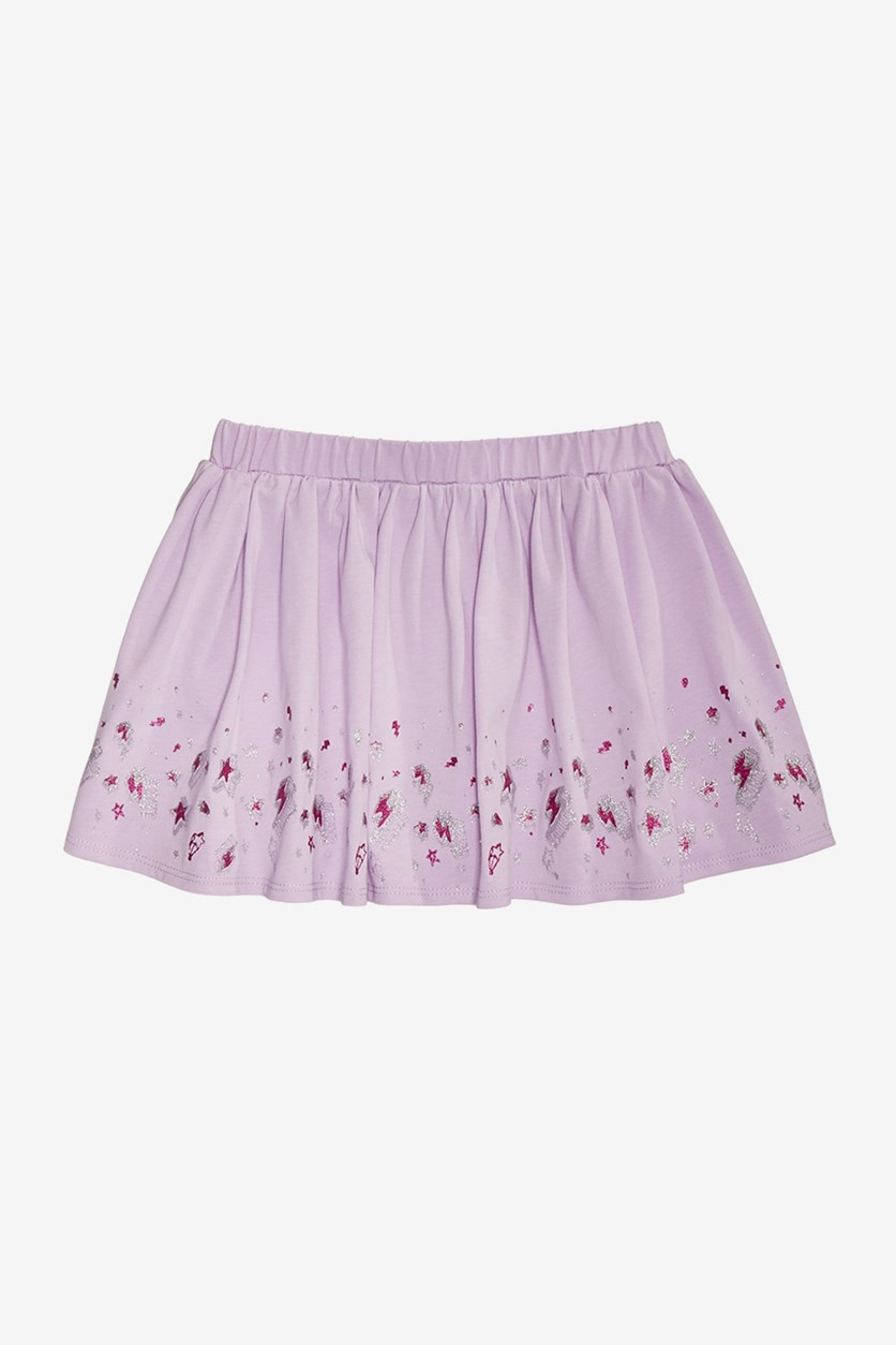 Epic Threads Kids Girl's Printed Scooter Skirt, Orchid Bloom