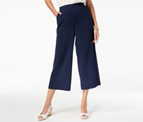 Charter Club Cropped Wide-Leg Pants, Intrepid Blue