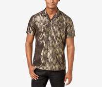 INC Men's Lurex Shirt, Gold Combo