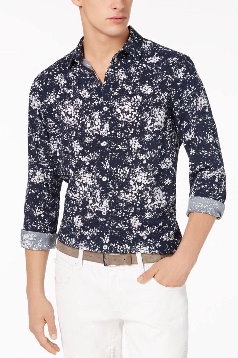 International Men's Concepts Miguel Splatter-Print Shirt, Navy