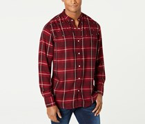 Inc Men's Long Sleeves Button Down Casual Shirt, Red/Maroon