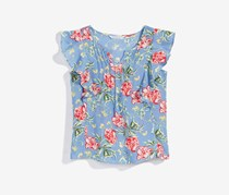 Nowadays  Bailee Madison Floral-Print Top, Blue