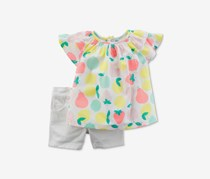 Carters Baby Girl's Fruit-Print Cotton Tunic Set, White Combo