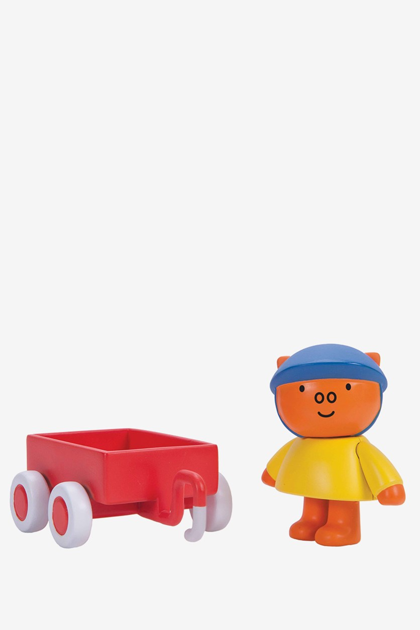 Miffy's Adventures Big and Small Grunty's Wagon Figure Set, Orange Combo