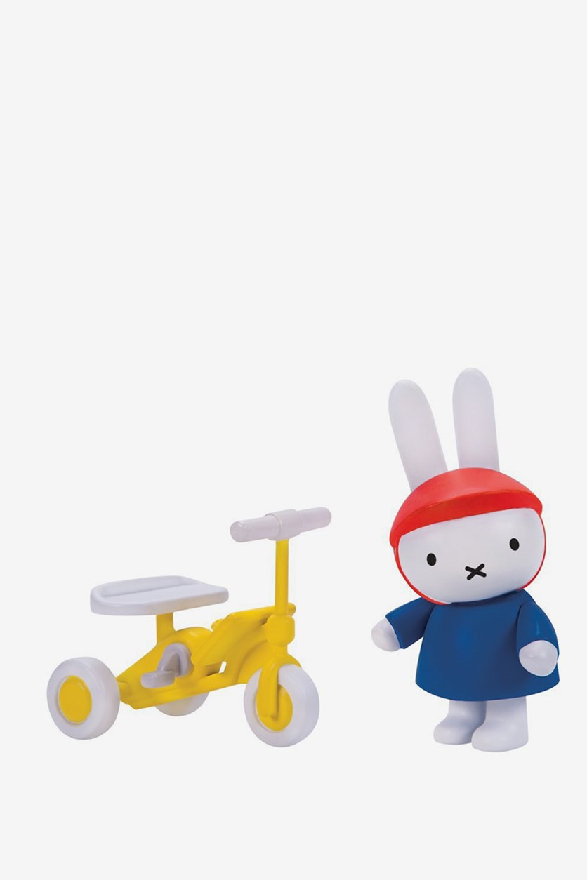 Miffy's Adventures Big and Small Ride Along with Miffy Figure Set, Blue/Yellow