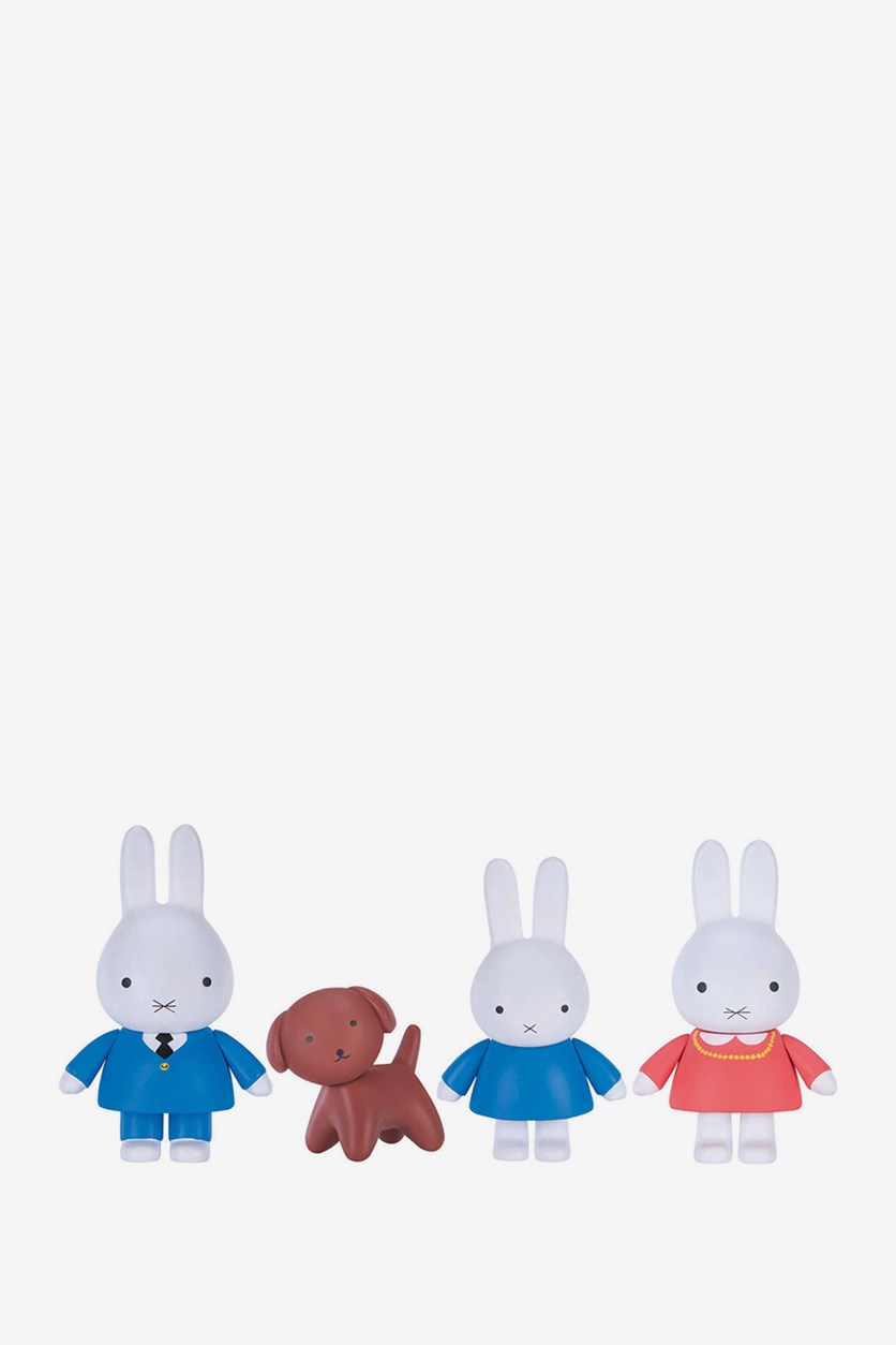 Miffy's Adventures Big & Small Figure 4-Pack, Miffy & Family