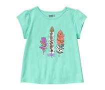 Crazy 8 Girl's Top, Light Blue
