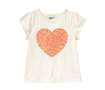 Crazy8 Girl's Sparkle Heart Tee, White