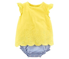 Carters Toddler's  Bodysuit, Yellow/Blue