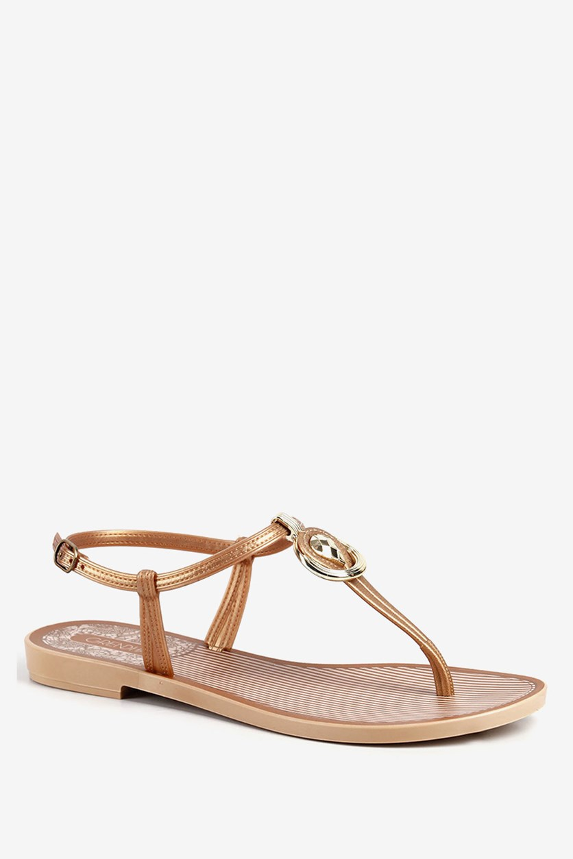 Women's Açai Sunset Sandals, Brown/Gold