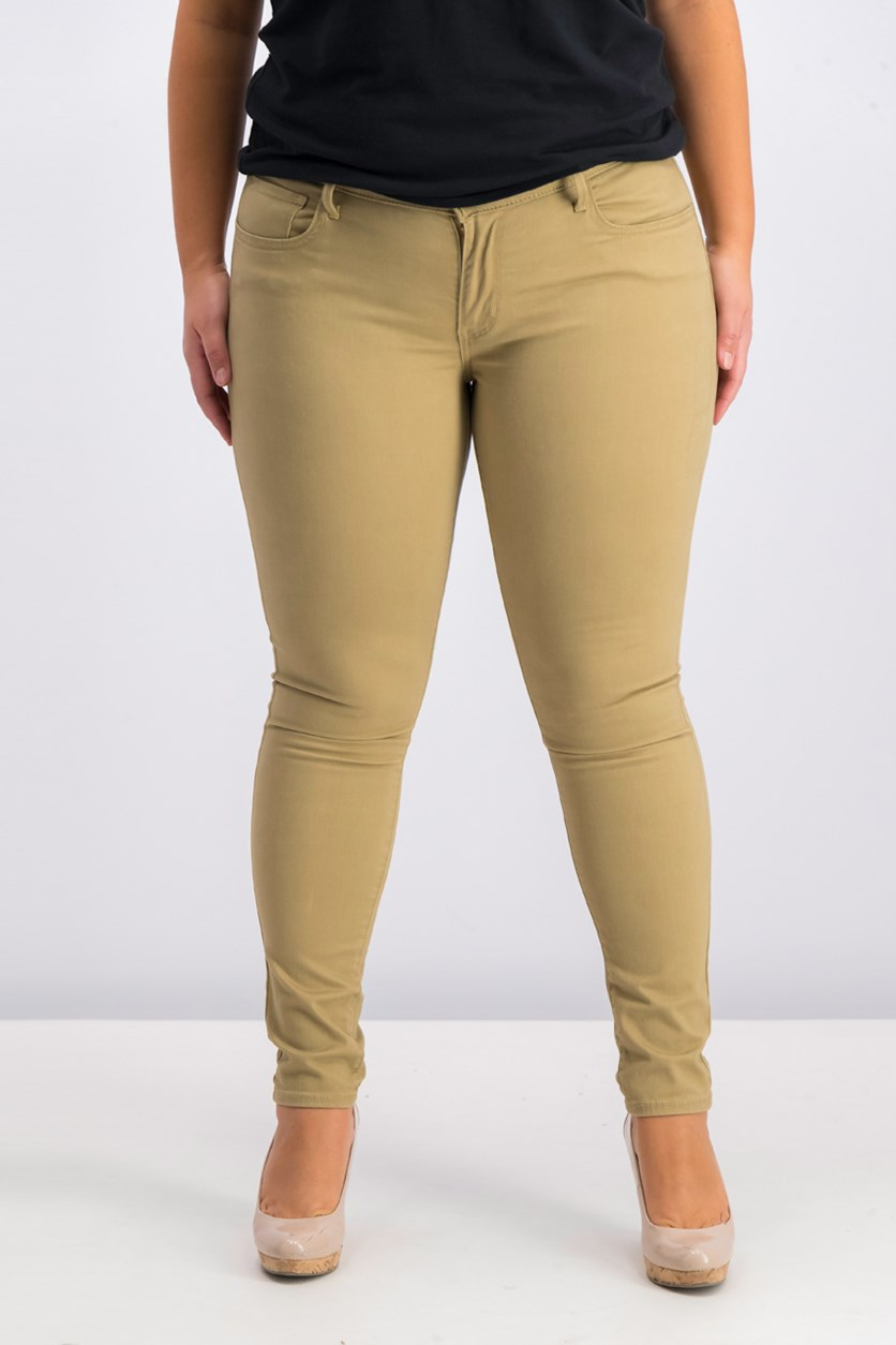 Super Skinny Colored Jeans, Natural