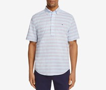 Vineyard Vines Steel Point Stripe Slim Fit Popover Shirt, Jake Blue