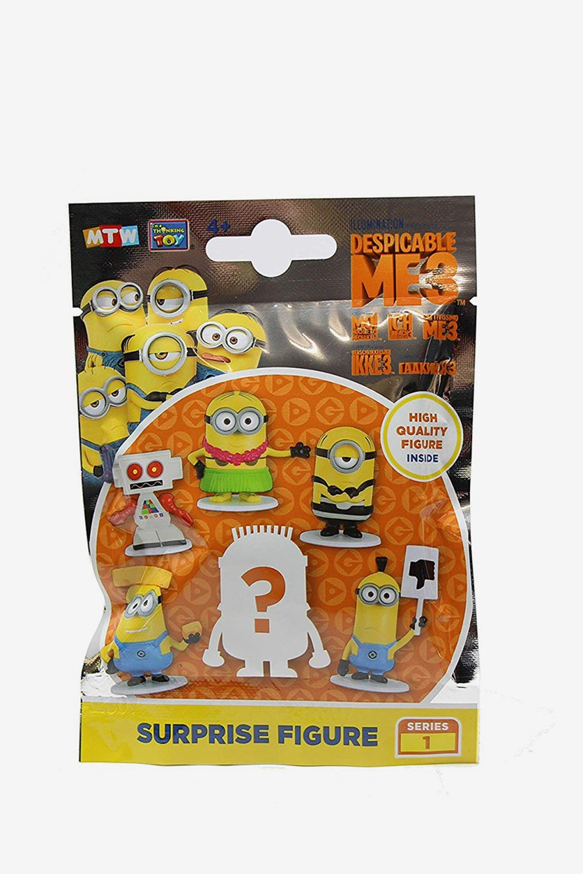 3 Series 1 Surprise Figure Blind Bag Party Favours, Yellow Combo