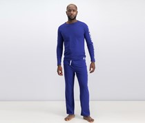 Joe Boxer Men'sLong Sleeve Pajama Set, Blue