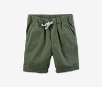 Carters Toddler Boys  Woven Cotton Shorts, Olive