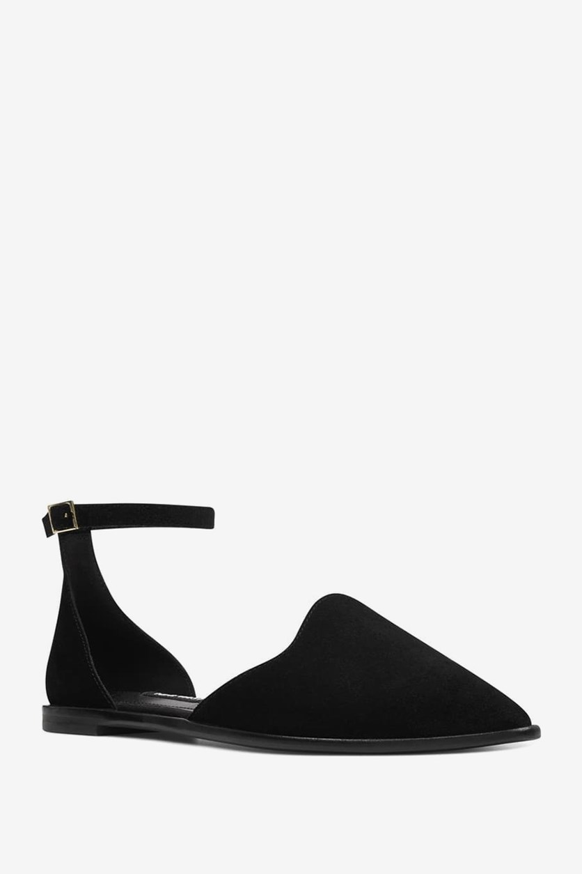 Oriona Flats,  Black Suede