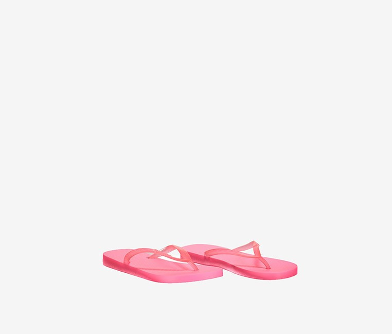 Kid's Girl Classic Tan Fem Slipper, Neon Pink