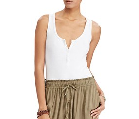 Denim Supply Ralph Lauren Women's Sleeveless Bodysuit, White