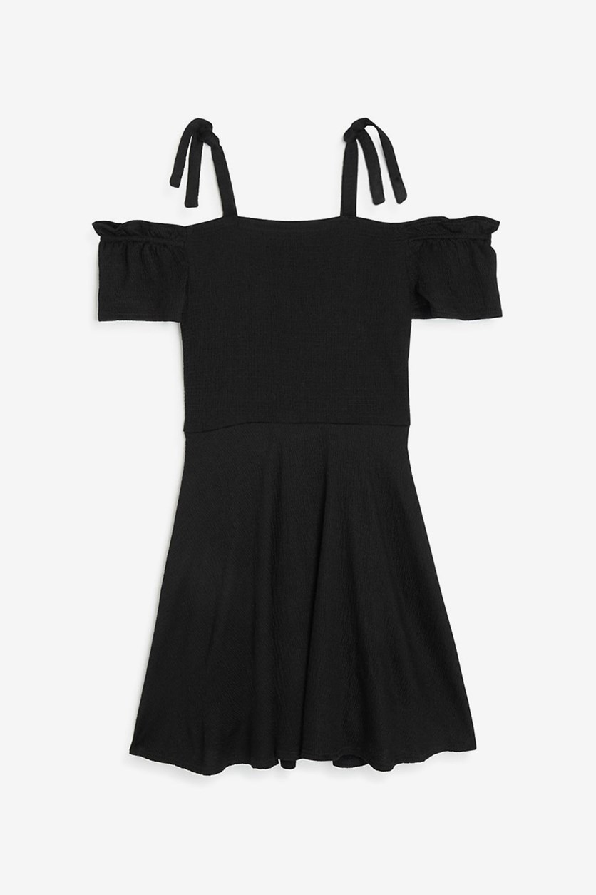 Girls' Textured Kerry Dress, Black