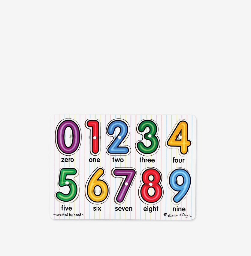 Melissa & Doug See-Inside Numbers Peg Puzzle, Combo
