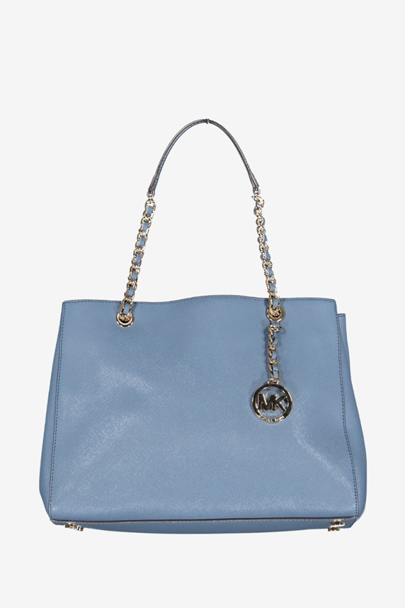 8b6cff71a5 Michael Kors Women's Susannah Large Tote Chain Handbag, Denim