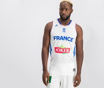 France Adidas Basketball Jersey National Team, White Combo