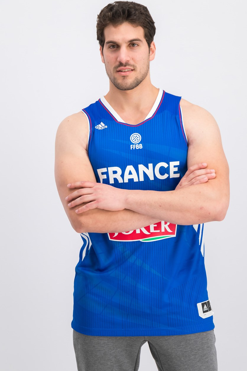 France Adidas Basketball Jersey National Team, Blue Combo