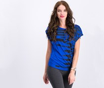 Adidas Women's Workout Graphic Tee, Bold Blue