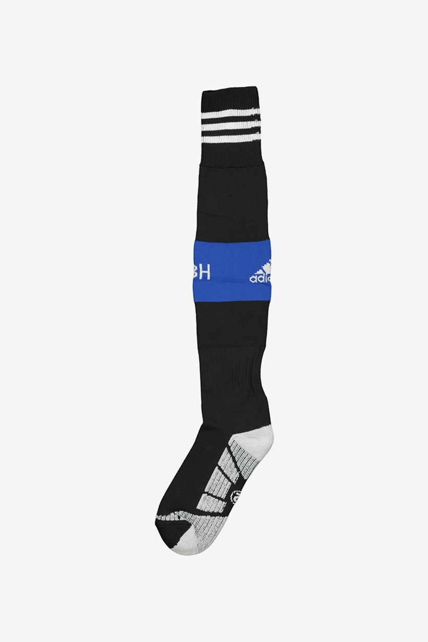 Men's Football Socks, Black/Blue