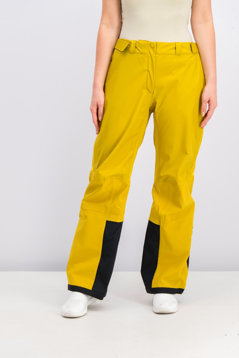 Womens Terrex Techrock Pants, Mustard/Black