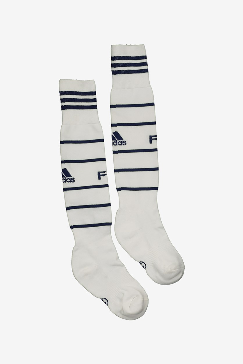 Men Fb 14 Away Socks, White/Navy