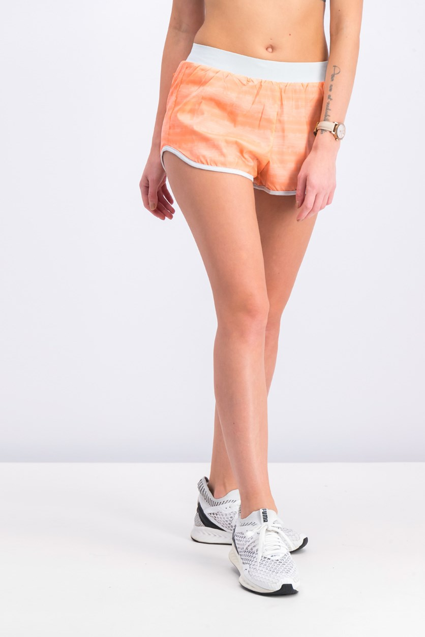 Women's Orchid Reversible shorts, Orange/Black