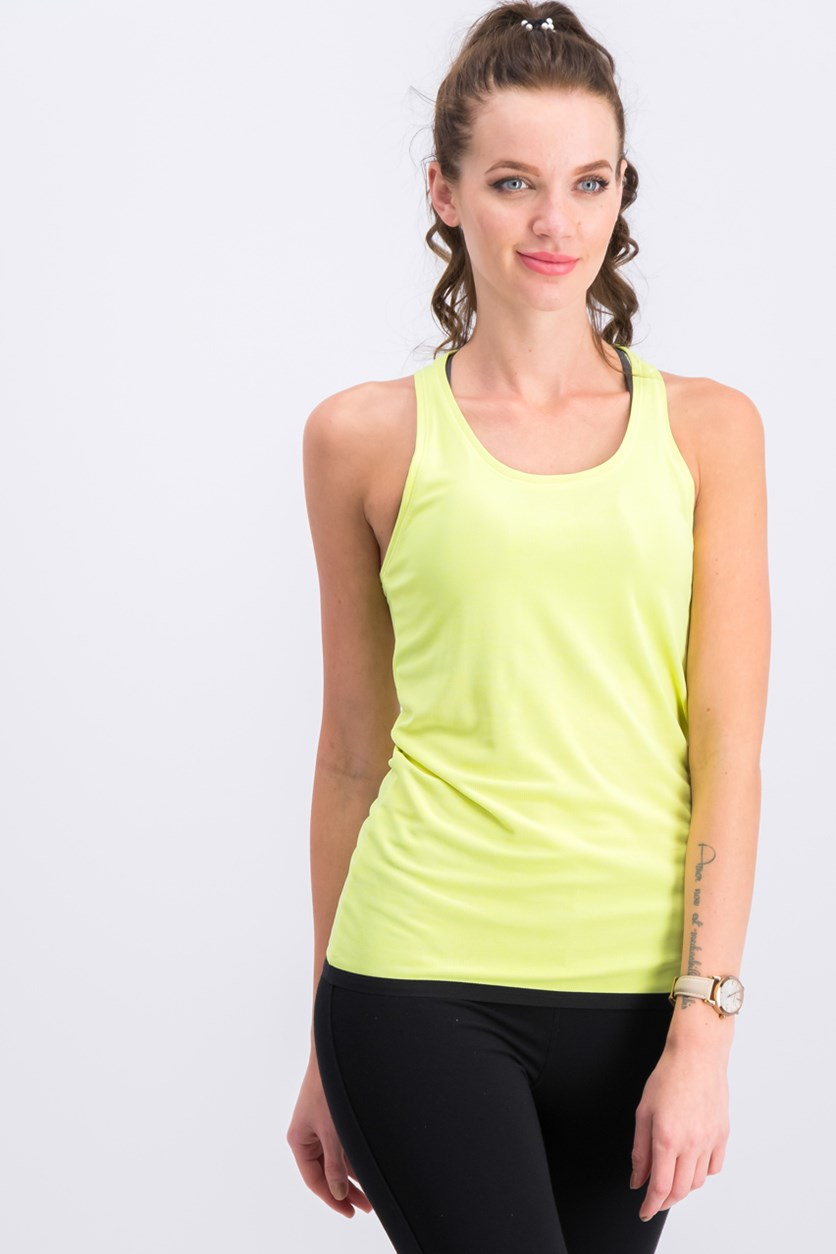Equivalence Clima Chill Tank Top, Yellow Green/Black