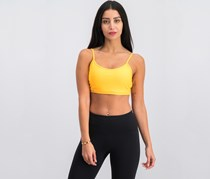 Reebok Les Mills Rebel Padded Sports Bra, Fire Spark Orange