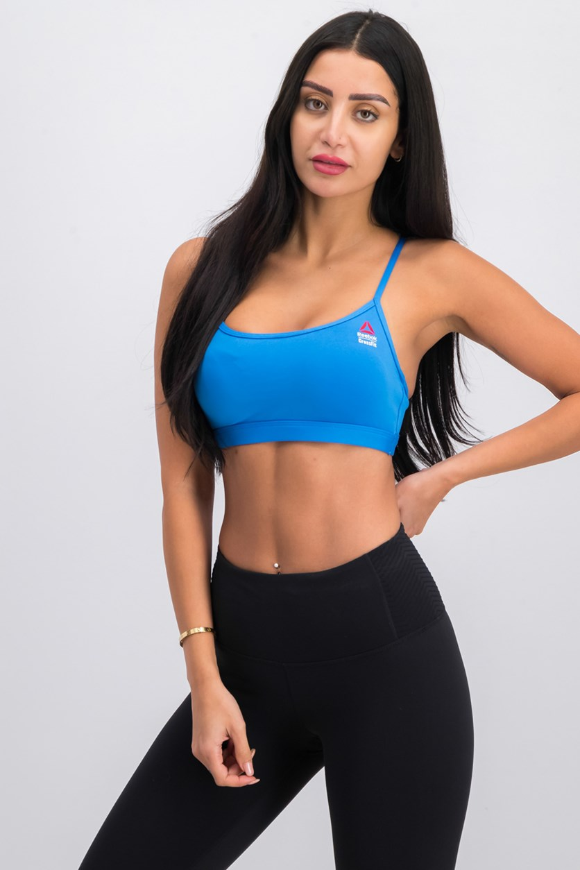 CrossFit Front Rack Sports Bra, Echo Blue