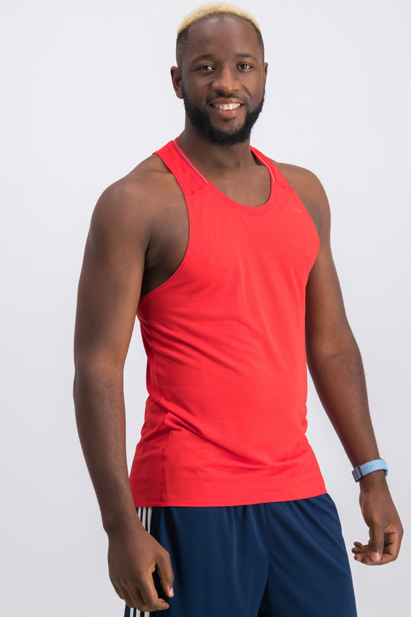 Men's Supernova Singlet Tank Top, Scarlet