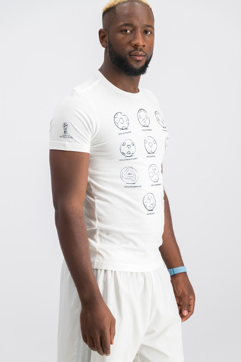 Men's Printed T-Shirt, White