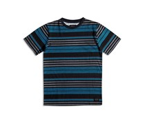 Quik Silver Boy's Stripe T-Shirt, Blue/Black