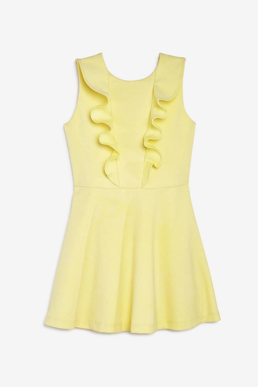 Junior Girls' Ruffled Clarissa Dress, Yellow