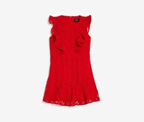 Bardot Kids Girls' Dream Big Eyelet-Lace Dress, Red