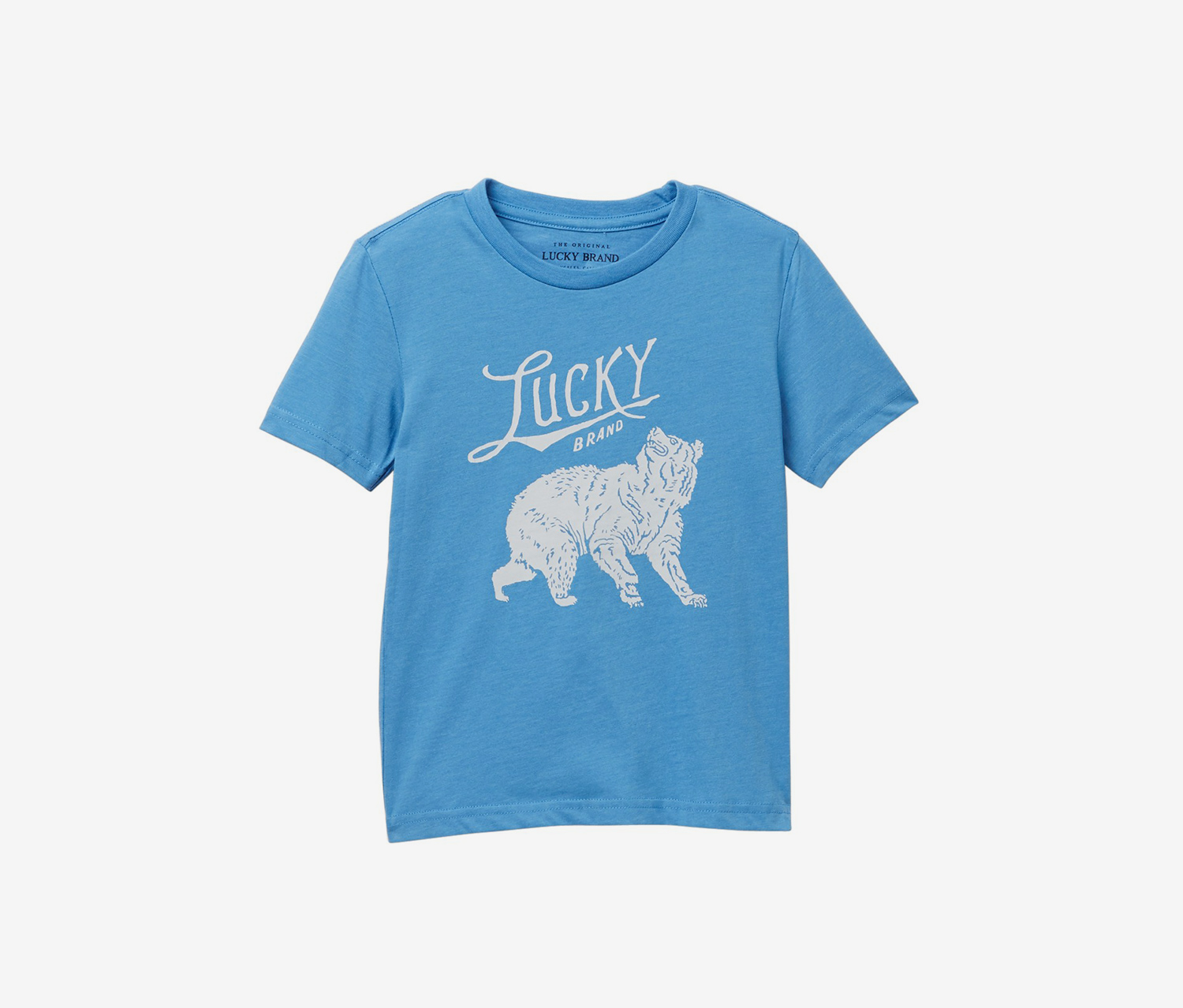 Boy's Washed Graphic Tee, Blue